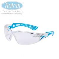 bollé Rush Plus Small משקפי מגן - עדשה בהירה צבעי תכלת-לבן